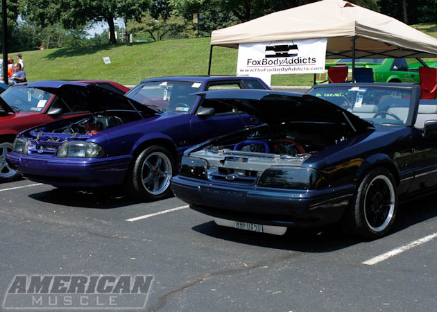 Foxbody Mustangs Side by Side at the Car Show