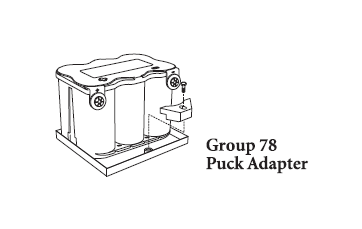 Position The Puck Against Center Cylinder Of Battery And Bolt To Tray As