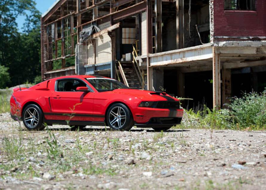 2011 V6 Mustang on Gravel