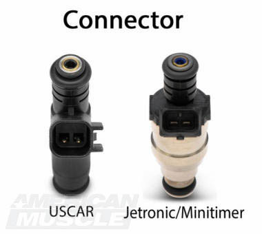 Mustang Fuel Injector Connector Styles