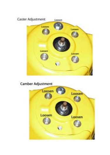 Installation Instructions for J&M Adjustable Caster Camber Plates