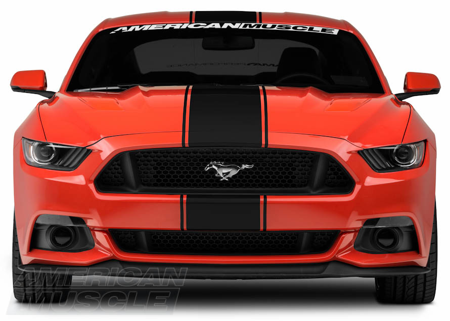 2015 GT Mustang with Super Snake Black Vinyl Stripes