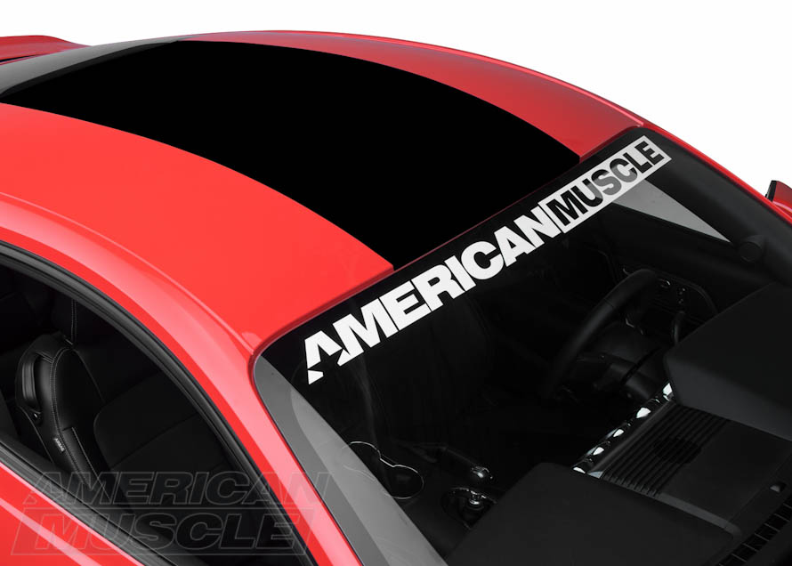 2015 Mustang with Windshield Decal