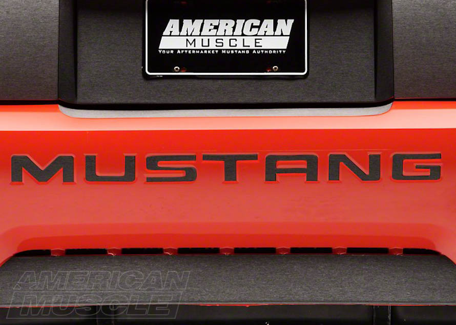 Black Vinyl Letter Inserts for Mustangs
