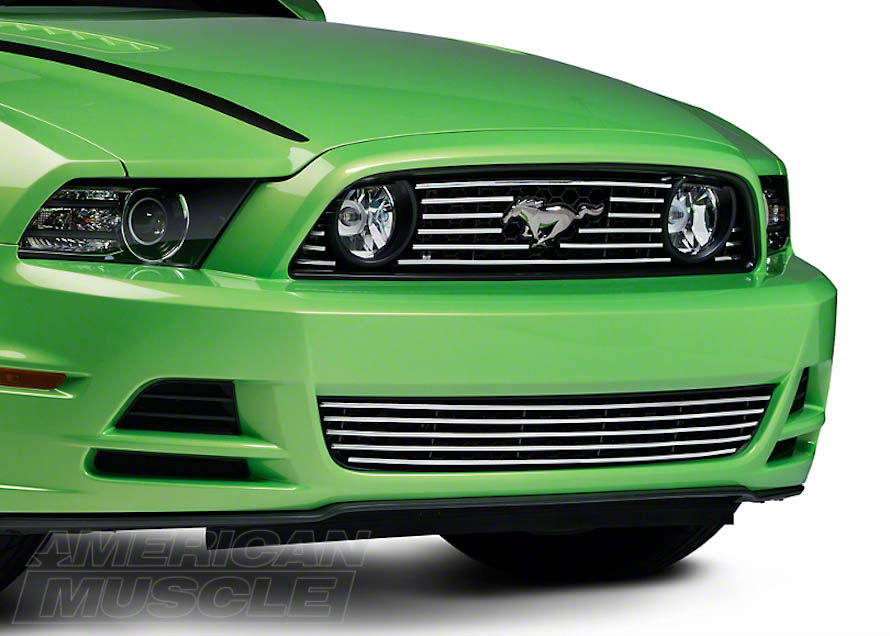 2013-2014 Mustang with a Polished Aluminum Upper and Lower Grille
