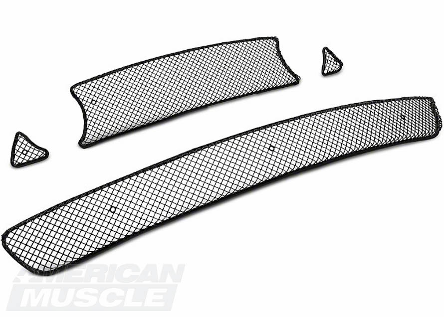 2013-2014 Mustang Overlay Mesh Style Upper and Lower Grilles
