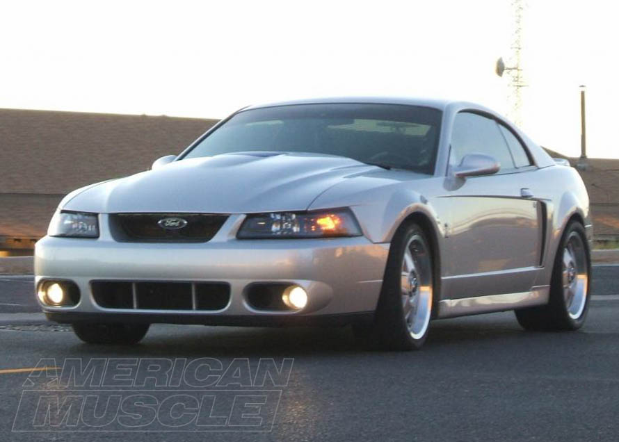 1999-2004 Mustang with a 2000s Style Cobra R Hood