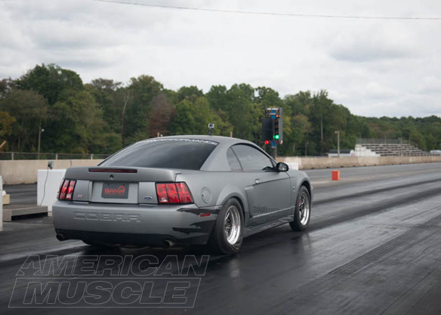 2003 Cobra Mustang on a Drag Strip
