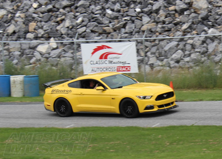 S550 Mustang Taking on an Autocross Track