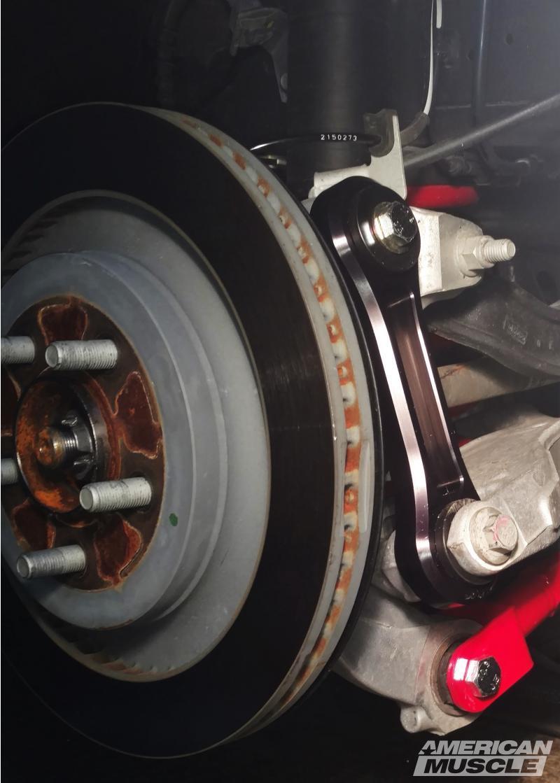 BMR Billet Aluminum Vertical Links Installed on an S550 Mustang