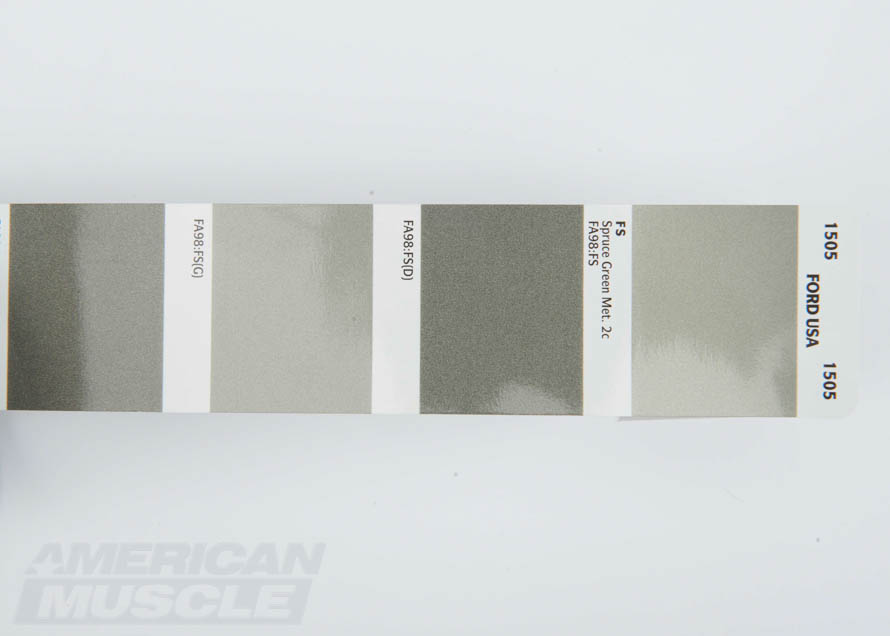 Mustang Silver Paint Code with Various Shades