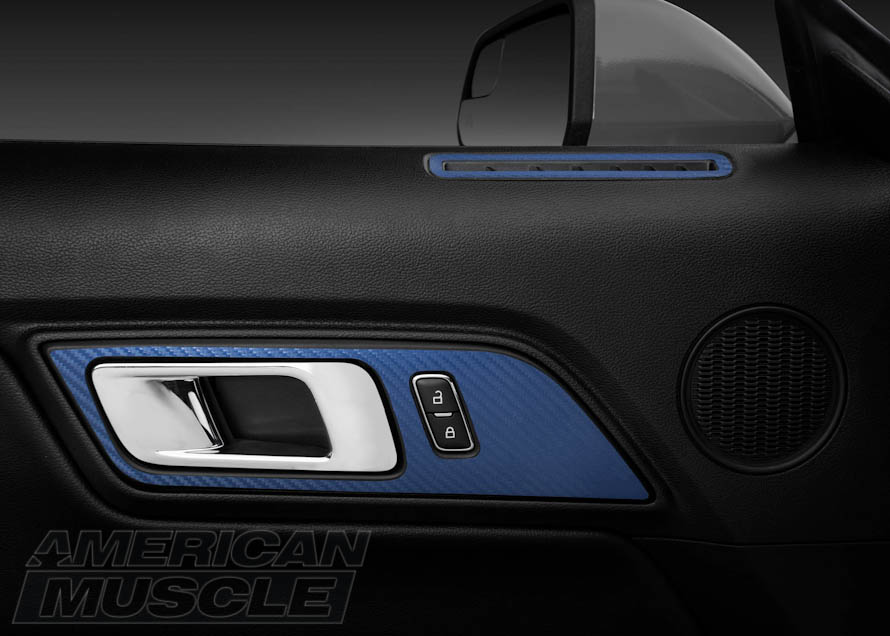 Blue, Carbon Fiber Inlays for S550 Mustangs