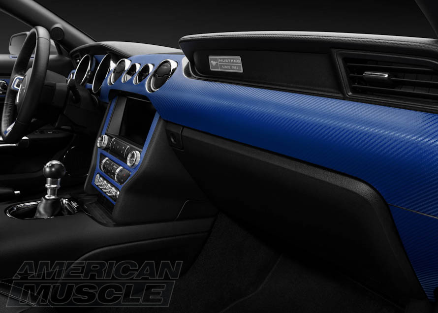 Blue Dash Overlay for S550 Mustangs