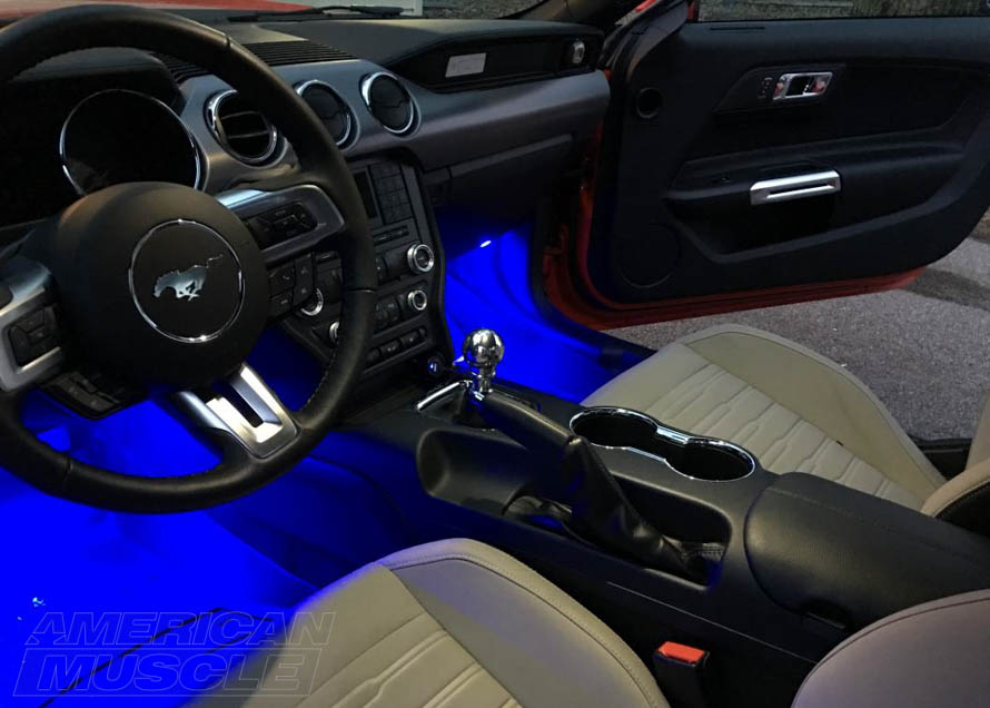 s550 Mustang LED Interior Strip Lights