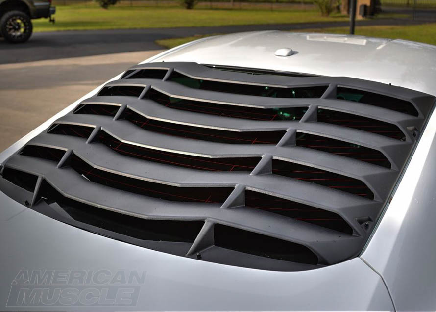 2015 Mustang MMD ABS Rear Window Louver