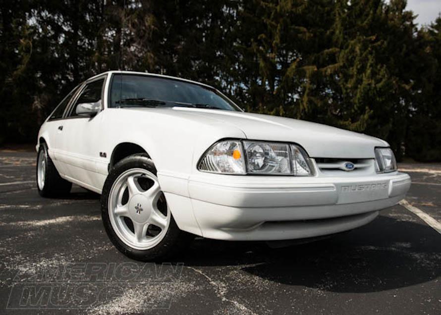 White Foxbody Mustang