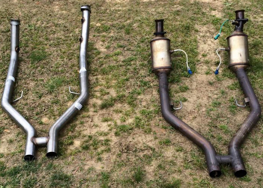 2005-2010 Mustang GT Stock H-Pipe Versus an Aftermarket Off-Road H-Pipe