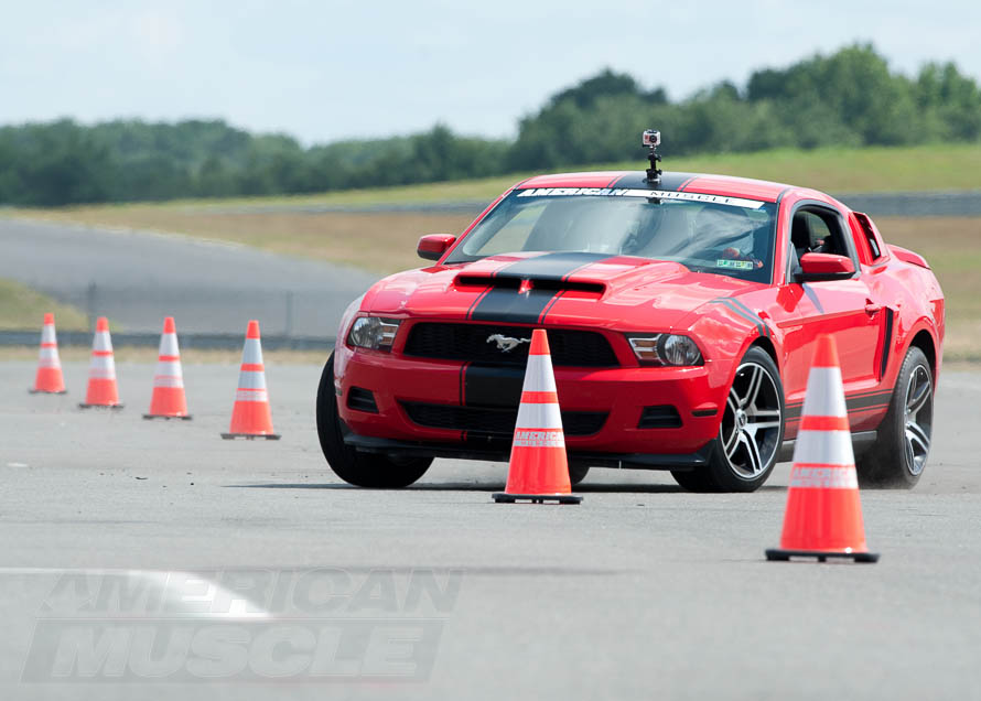 2011 V6 Mustang Slaloming Through Cones