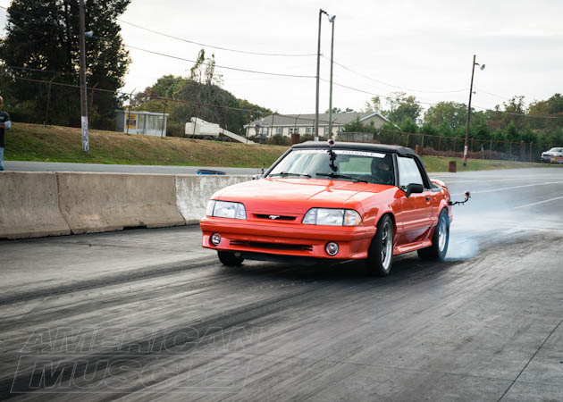 Foxbody About to Rip Down the Drag Track