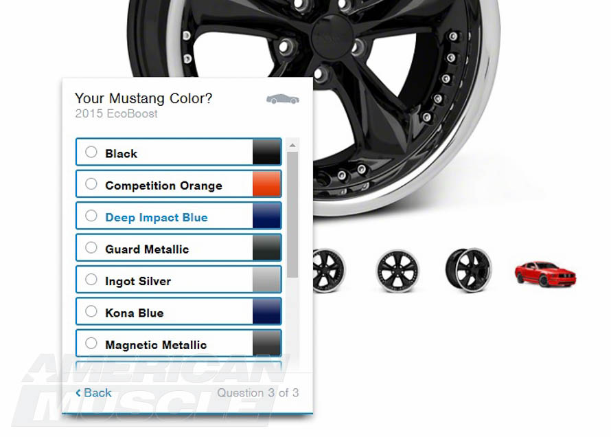 AmericanMuscle's Mustang Wheel Customization Tool