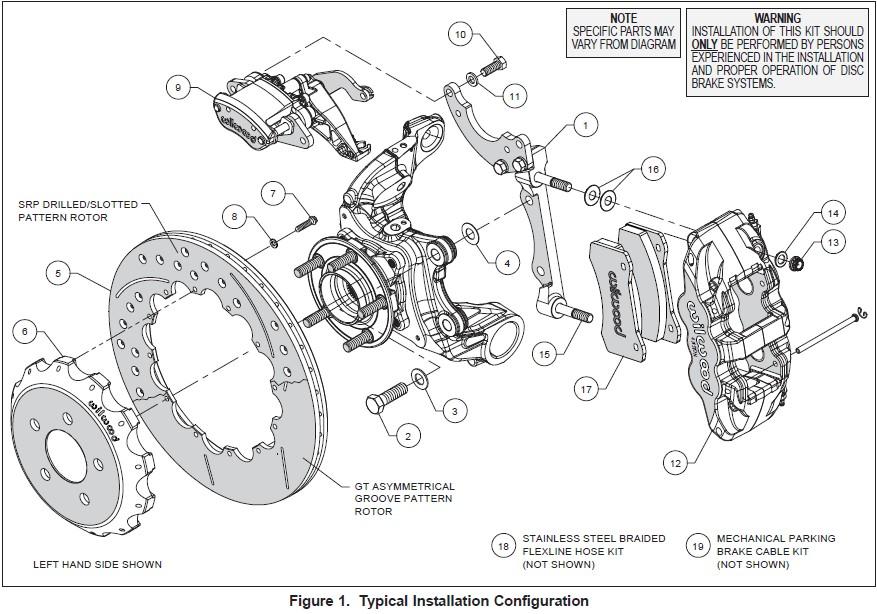 How to Install Wilwood AERO4 MC4 Rear Brake Kit w/ Drilled