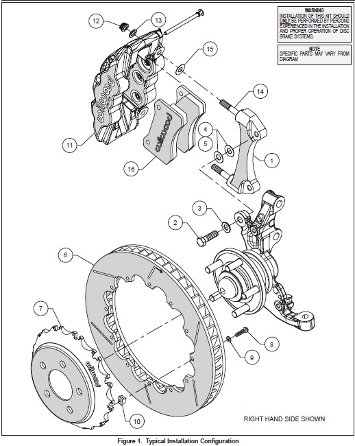 How To Install Wilwood Aero6 Road Race Front Brake Kit 15 18 All