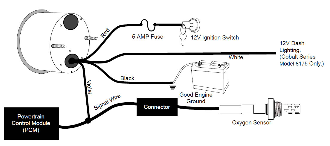 how to install an auto meter pro comp ultra lite air  fuel ratio gauge electric on your 1979 Ford Wiring Harness Diagrams Ford Wiring Harness Diagrams