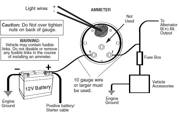 how to install an auto meter pro-comp ultra-lite voltmeter ... 12v meter wire diagram #11