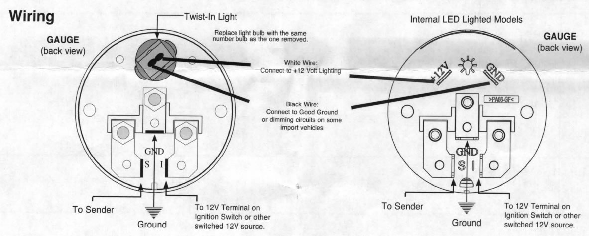 guide 13512 02 how to install a ford racing voltmeter gauge on your 1979 2013 sunpro temp gauge wiring diagram at soozxer.org