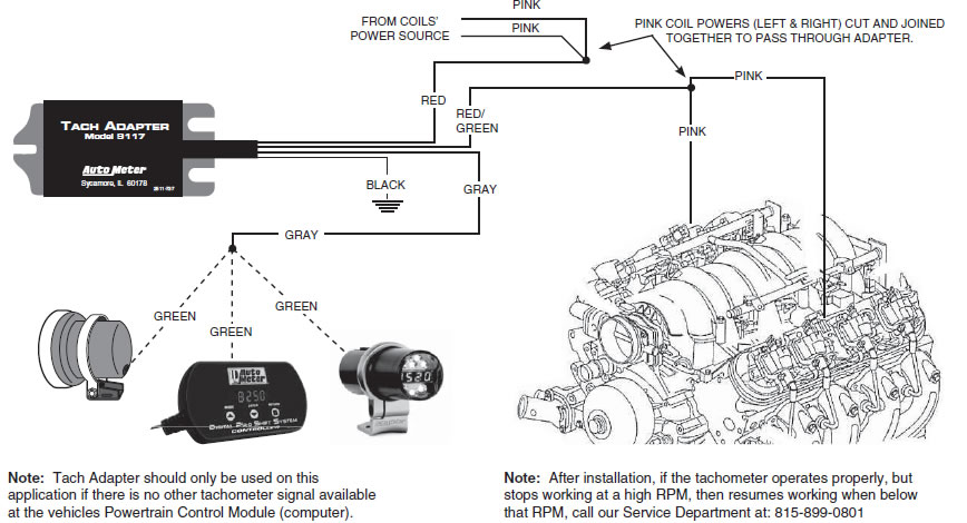 Autometer Tachadapter 9612 Install on ford ignition system wiring diagram