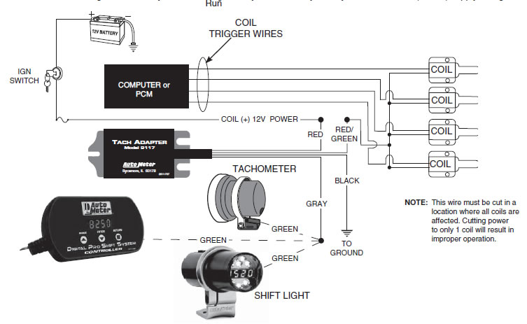 guide 13516 06 how to install an auto meter tach adapter on your mustang aftermarket tachometer wiring diagram at virtualis.co