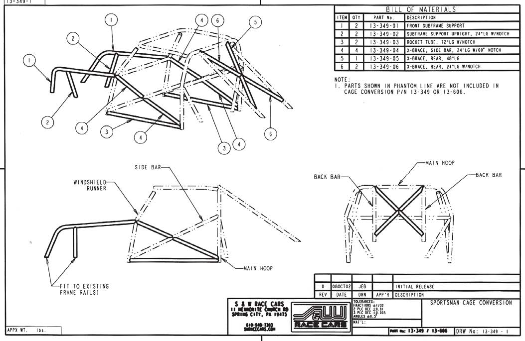 fox body frame measurements