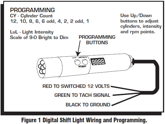 guide 14211 01 how to install an msd programmable digital shift light on your shift light wiring diagram at edmiracle.co