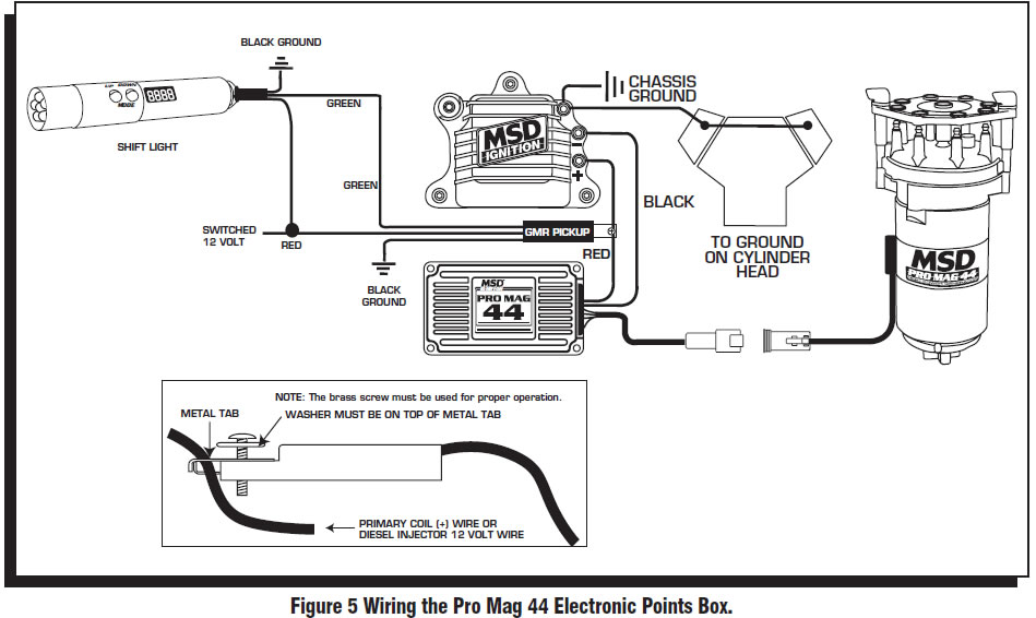 guide 14211 05 how to install an msd programmable digital shift light on your msd pro mag wiring diagram at gsmportal.co