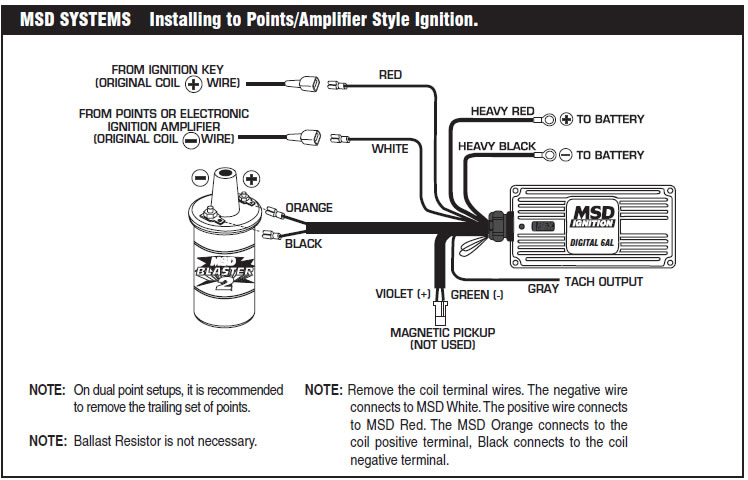 msd 5 wiring diagram how to install an msd 6a digital ignition module on your ...