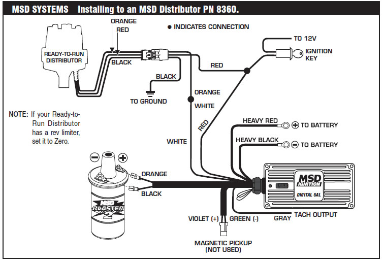 msd 6al 6420 wiring diagram how to install an msd 6a digital ignition module on your ... msd 6al tach wiring diagram