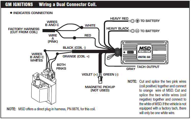 how to install an msd 6a digital ignition module on your 1979 1995 rh americanmuscle com msd wiring diagram 6al part number 6420 msd wiring diagram 6aln