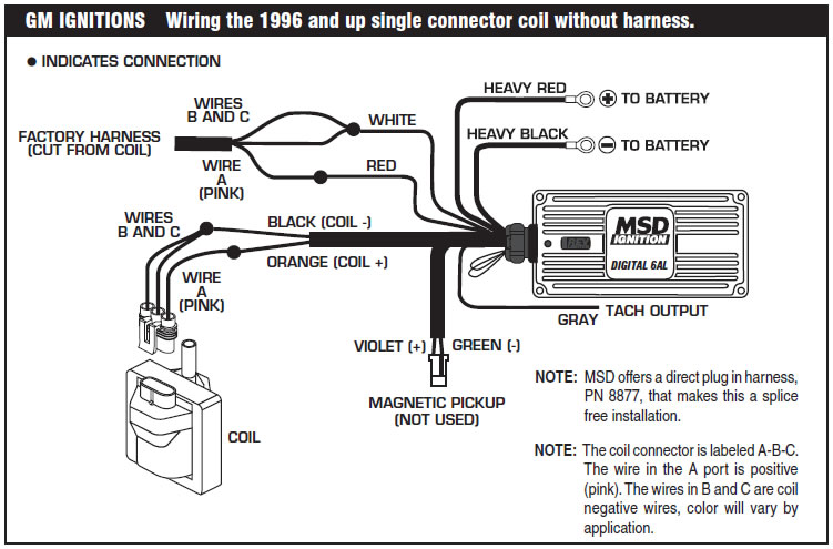 msd 5 wiring diagram how to install an msd 6a digital ignition module on your ... msd 5520 wiring diagram