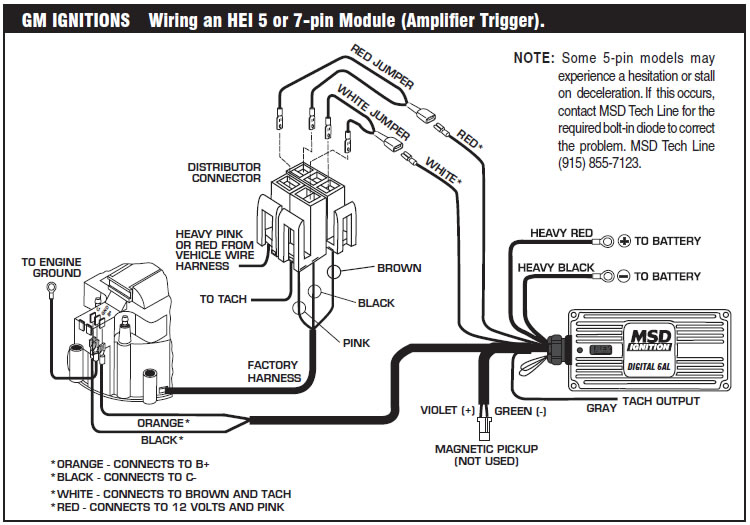 guide 14221 14222 21 how to install an msd 6a digital ignition module on your 1979 1995 msd 6al hei wiring diagram at bayanpartner.co
