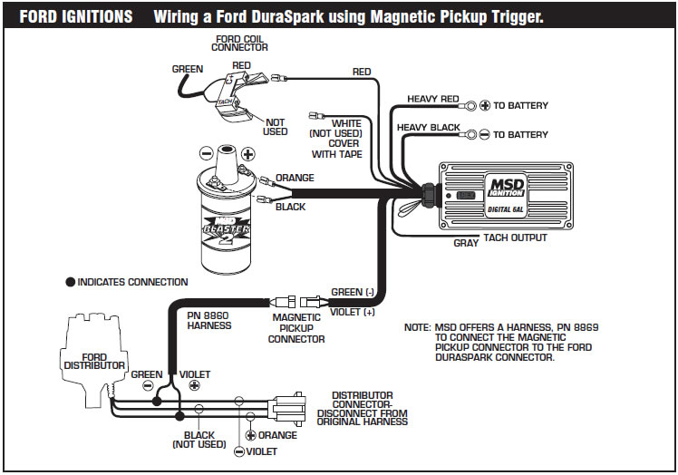 how to install an msd 6a digital ignition module on your 1979 1995 rh americanmuscle com MSD 6AL Wiring-Diagram msd tach adapter 8920 wiring diagram