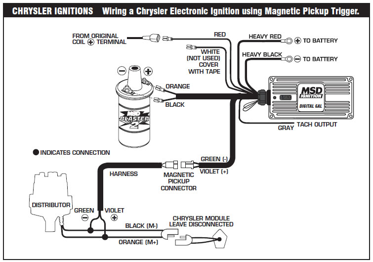 How To Install An Msd 6a Digital Ignition Module On Your 19791995. The Following Wiring Diagrams Illustrate Numerous Installations On Different Vehicles And Applications If You Experience Difficulties When Installing Your. Wiring. Mopar Electronic Ignition Wiring Diagram 1985 At Scoala.co
