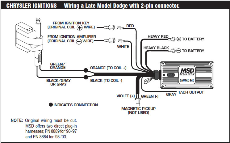 If You Experience Difficulties When Installing Your Msd Contact Our Customer Support Department At 915 8557123 7 5 Mountain Time Or Email Us: Msd 6a Wiring Diagram Chrysler At Johnprice.co