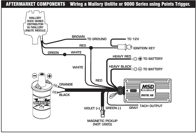 How to install an MSD 6A Digital Ignition Module on your 1979-1995 Mallory Tach Wiring Diagram Electric on
