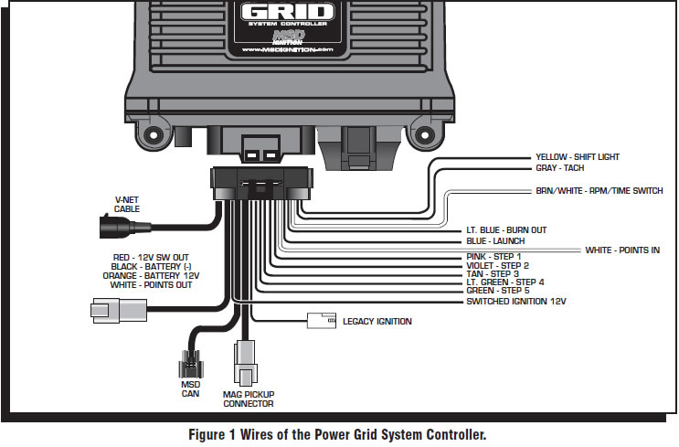 guide 14224 02 how to install an msd power grid system on your 1979 1995 mustang msd pro mag wiring diagram at crackthecode.co