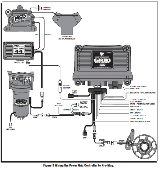 guide 14224 07 how to install an msd power grid system on your 1979 1995 mustang msd pro mag wiring diagram at gsmportal.co