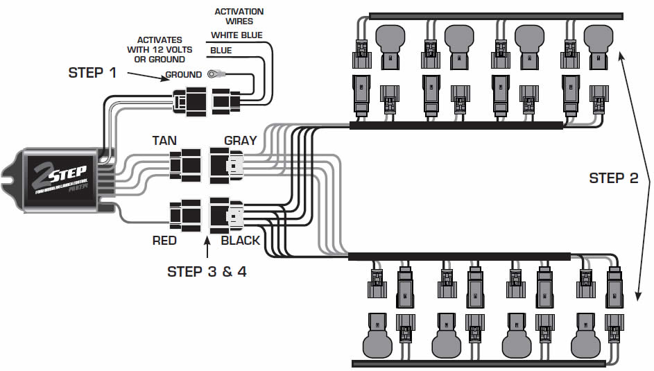 guide 14225 01 how to install an msd launch master 2 step rev limiter on a 1999 msd 3 step wiring diagram at soozxer.org
