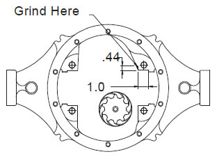 how to install an auburn pro series limit slip differential 31 5.7 Liter Chevy Engine Diagram chrysler 8 1 4 applications require modification to the axle housing as shown to provide clearance for the differential case clean housing after grinding