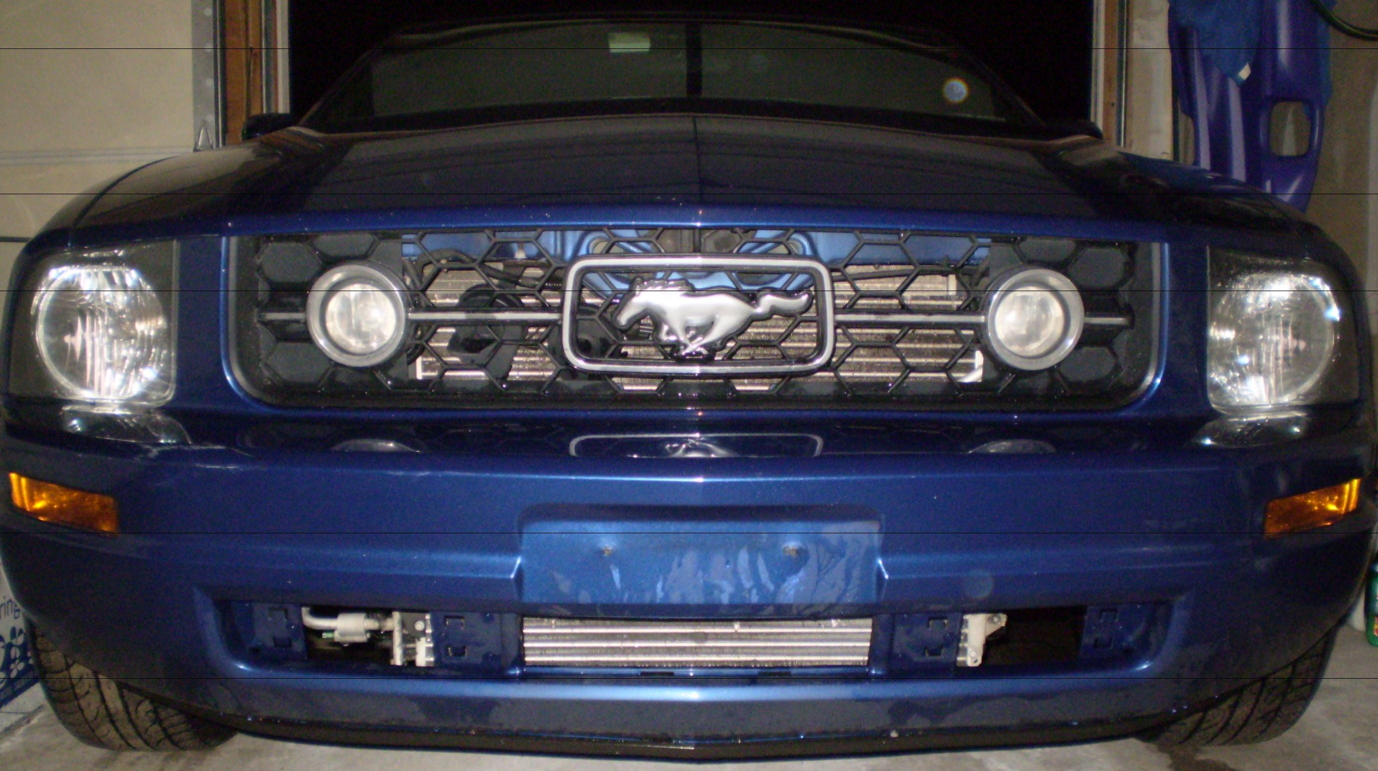 How to install a lower front bumper grille for 2005 2009 mustang v6
