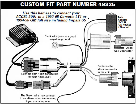 guide 37220 06 how to install a accel performance tach adapter on your 1984 1995 aftermarket tachometer wiring diagram at virtualis.co