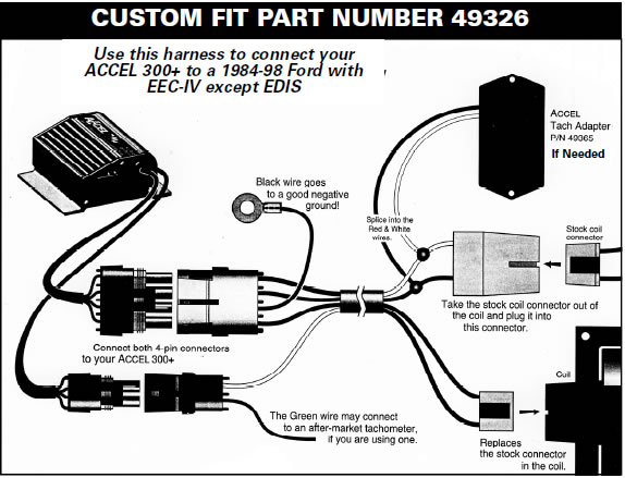 How To Install A Accel Performance Tach Adapter In Your 19841995. Custom Fit Application Plugin Harness Diagrams. Corvette. 1981 Corvette Tachometer Wiring At Scoala.co